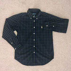 Ralph Lauren Plaid Cotton Poplin Shirt for Boys